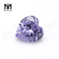 Factory color cz stone loose lavender cubic zirconia gemstone