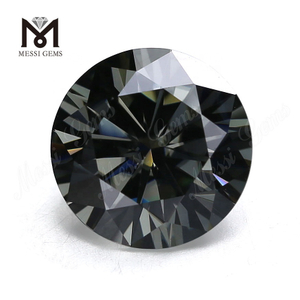 wholesale moissanite diamond round 11mm grey synthetic moissanite loose stone price