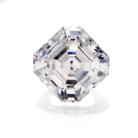 Price per carat Loose gemstone Color play or fire White Asscher cut Moissanite