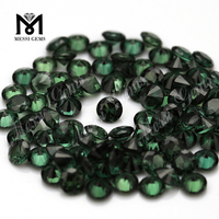 MessiGems Wholesale Price 152# Synthetic Spinel Round Green Spinel