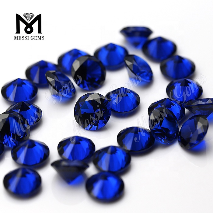 Wholesale Machine Cut Round 1.25mm 112# Synthetic Blue Spinel Gemstone