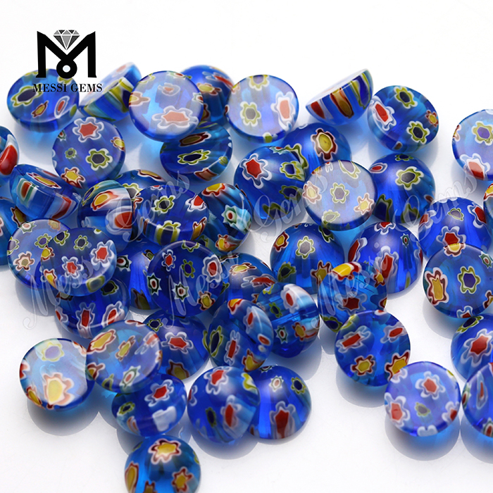 Factory Price Good Quality Round Cabochon Fancy Color Crystal Stone