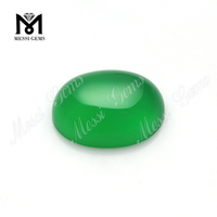 Wholesale oval shape 12*16mm green onyx natural agate for jewelry