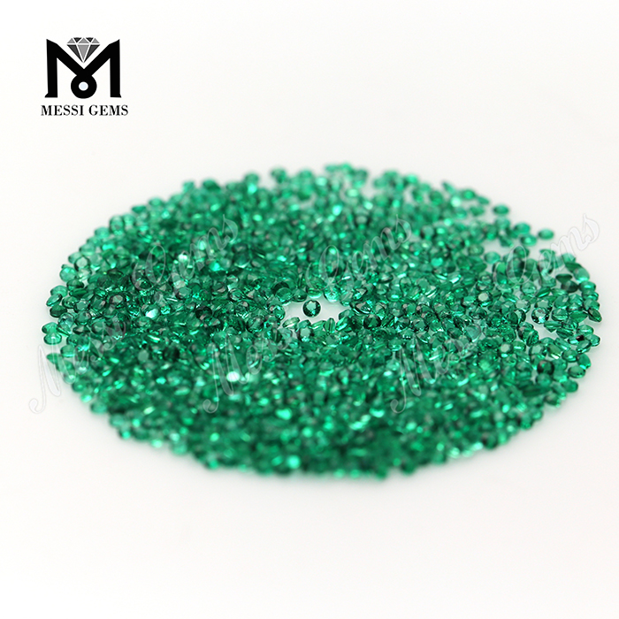 1.25mm 2mm Round cut crystal natural emerald stone