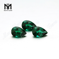Top Machine Cut Emerald Gemstone Pear Shape Emerald Stone