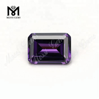 loose gems synthetic emerald cut cubic zirconia