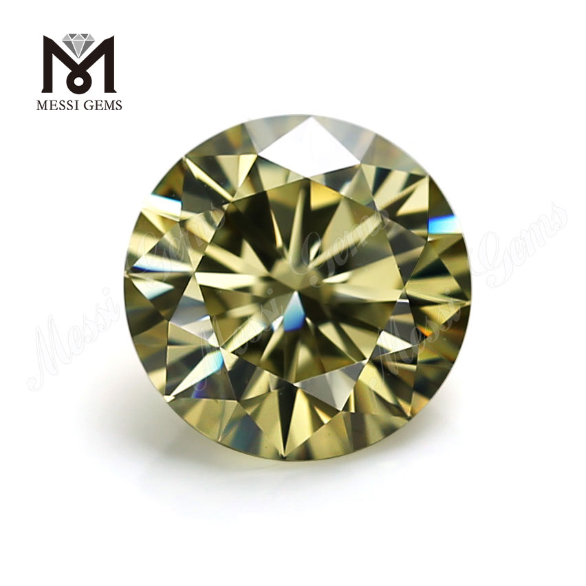 Factory Price Loose Gemstone 1 Carat Brilliant Cut Yellow moissanite diamond