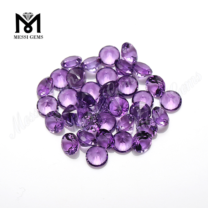 High Quality 6mm Round Hydrothermal Quartz Amethyst Stone Price