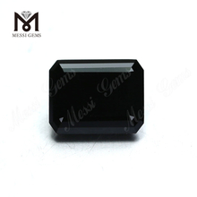 Factory Price Synthetic Loose Gemstone Emerald Cut Black Moissanite Diamond