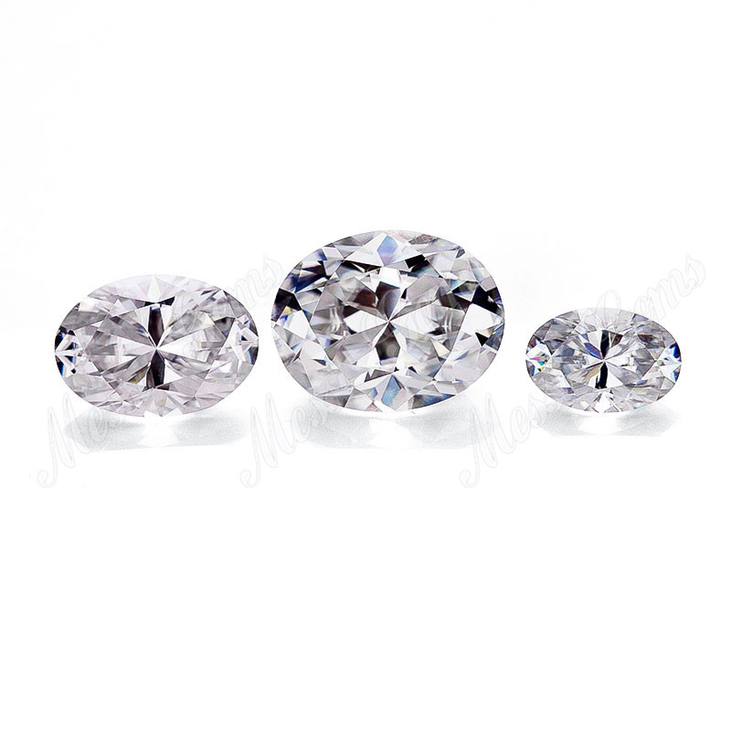 Loose synthetic big size oval 10x12mm VVS White moissanite price