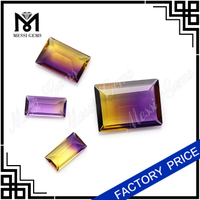 Color Mix Quartz Ametrine Baguette Cut 8x16MM Amethrine Gem