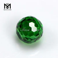 AAA Good Quality Green Faceted Cubic Zirconia Beads With Hole