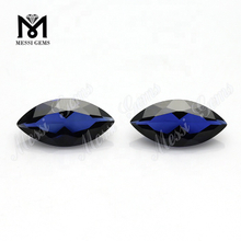 hot sale marquise cut loose gemstone blue sapphire synthetic stones