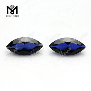 hot sale marquise cut loose gemstone blue sapphire synthetic corundum stones