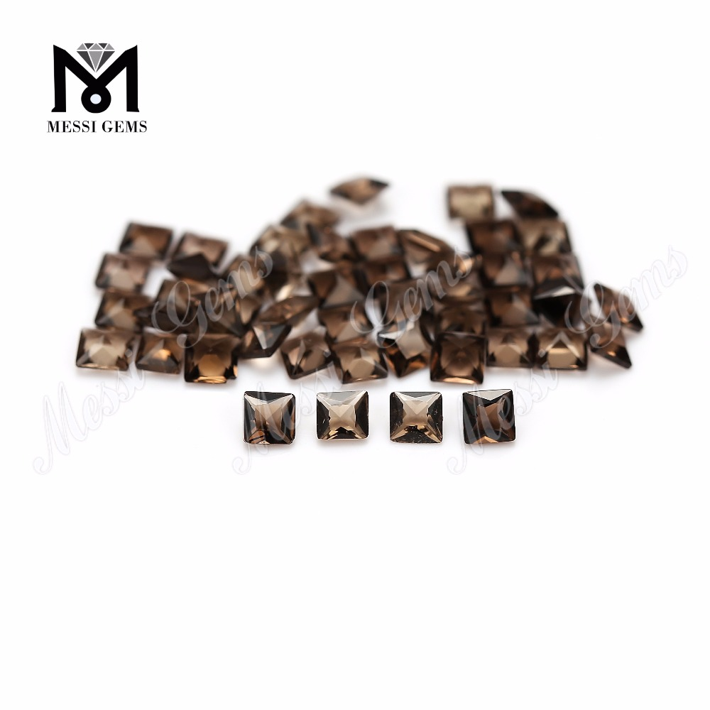 Wholesale price loose gemstone natural smoky quartz stone