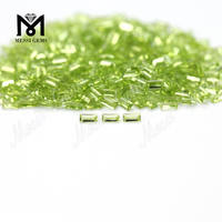 baguette cut small loose gemstones natural peridot from factory