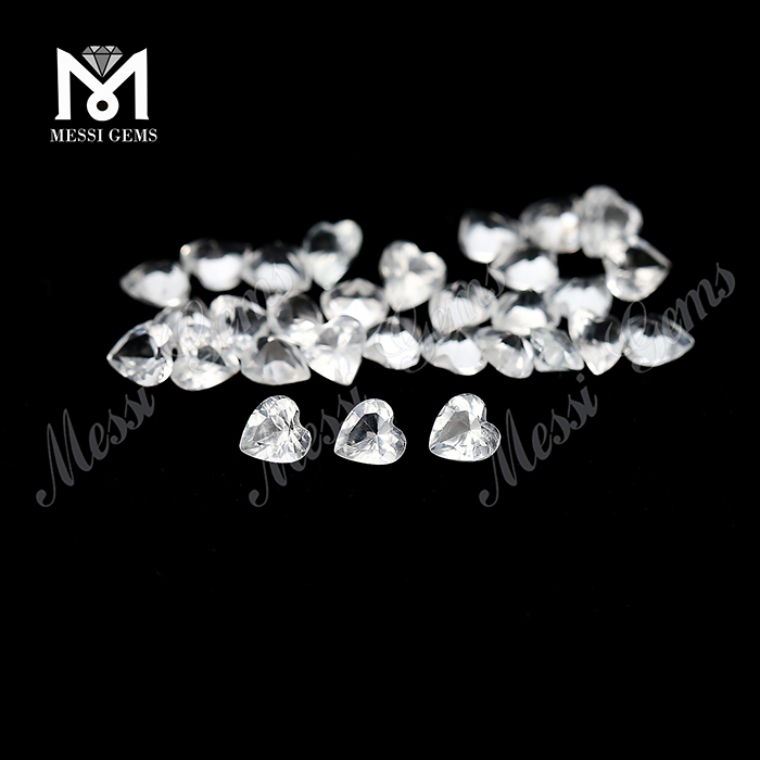 Wholesale 4x4 heart shape natural white topaz stone price