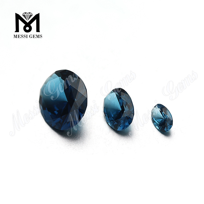 Wax Casting loose oval cut 10x12mm london blue nanosital stone