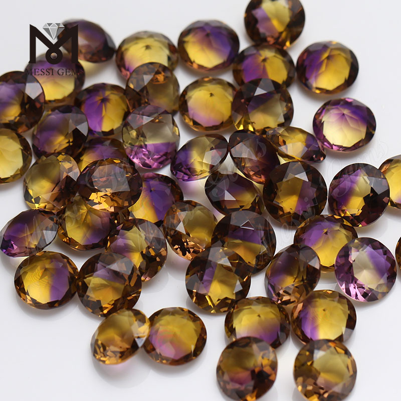 Wholesale Price 8mm Round Created Hydrothermal Quartz Synthetic Ametrine