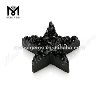 Black Plating Star Shape Natural Druzy Agate