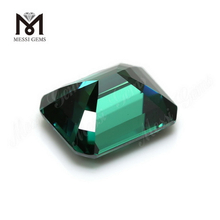 Lab created Loose gemstones price per carat Octagon Green Moissanite