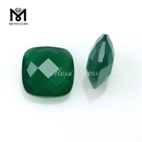 Faceted Loose Stone Cushion 10 x 10mm Emerald Agate Gem