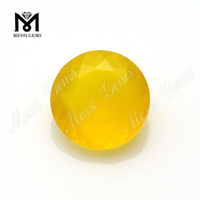 Yellow natural agate loose gemstones