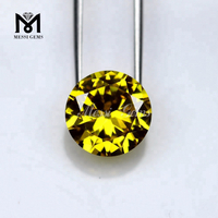 Factory Price Round 12.0mm Golden Yellow Loose Gold Cubic Zirconia Gemstone