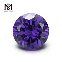 Wholesale Round Cubic Zirconia Synthetic 9.0mm Amethyst CZ Stones
