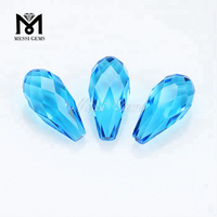 Fancy 7.5 x 15mm Water Drop Blue Loose Glass Stone