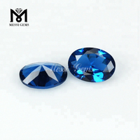 Oval shape european machine cut london blue nano gemstones