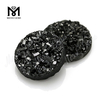 Druzy Round Shape Black Color Natural Druzy Agate Stone