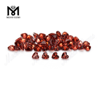 Factory price natural faceted gemstone heart shape garnet stone
