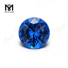 Round brilliant cut 10mm blue nano stone synthetic nano gemstone