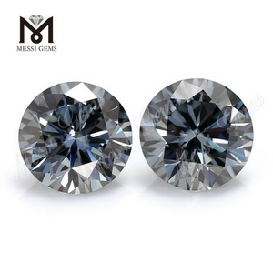 Loose gemstone brilliant cut grey 1 carat moissanite diamond price