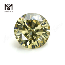 Factory Price Loose Gemstone 1 Carat Brilliant Cut Yellow Moissanites