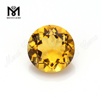 Loose Gemstone 10mm Round Hydrothermal Quartz Citrine Stone Price