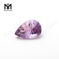 Eye Clean Quality Big Size 15x21mm Pear Concave Shape Natural Amethyst Stone