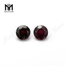 8.0mm round brilliant cut natural purple garnet loose stones