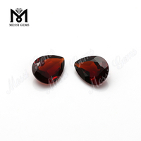 pear cut red garnet stones natural gemstones for sale