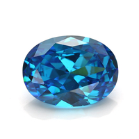 Loose Price Oval 13X18mm Aqua Blue Rough Cubic Zirconia Stones