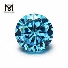 Loose Round 4.0mm Aquamarine CZ Wholesale Cubic Zirconia Gemstone