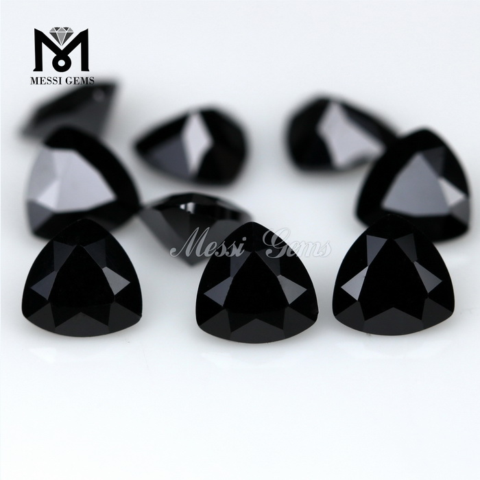 Wholesale Price Loose 6x6mm Trillion Cut Black Cubic Zirconia