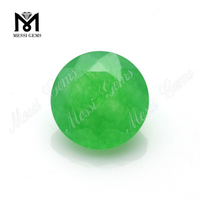 8.0mm natural cut round green jade gems for jewelry setting