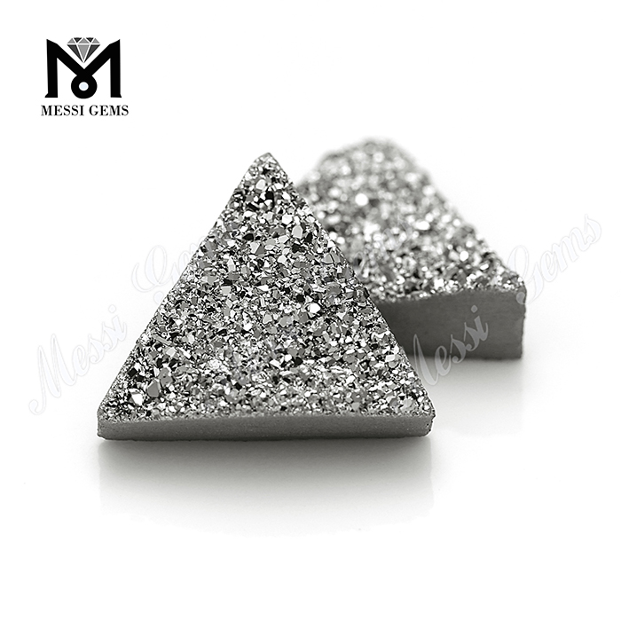 druzy jewelry making stones natural druse agate in silver color