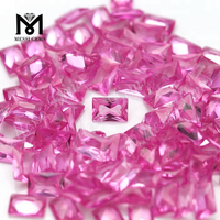Wholesale Rectangle 4x6MM 2# Pink Ruby Stone Synthetic Corundum Price