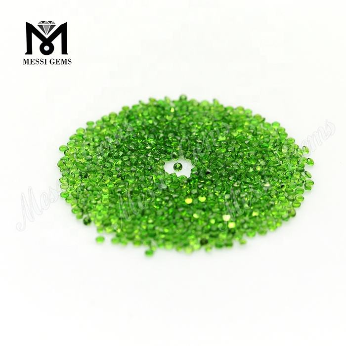 popular sale small size green color natural diopside stone