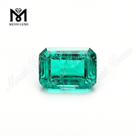 Emerad cut synthetic columbian emerald ring gemstone