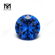 factory price loose synthetic 8mm london blue nano stone