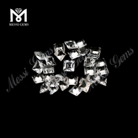 Princess cut natural loose white topaz wholesale price